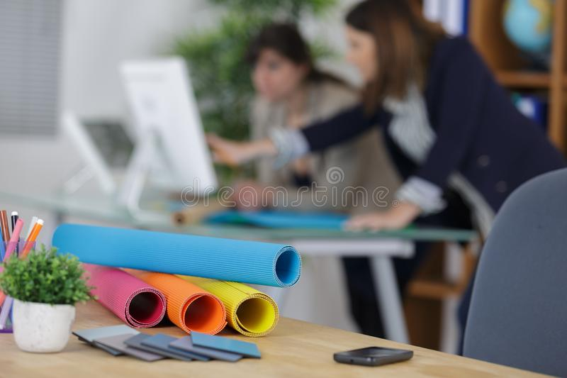 Concept créatif de bureau de modèle de profession d'architecte de studio de conception image libre de droits