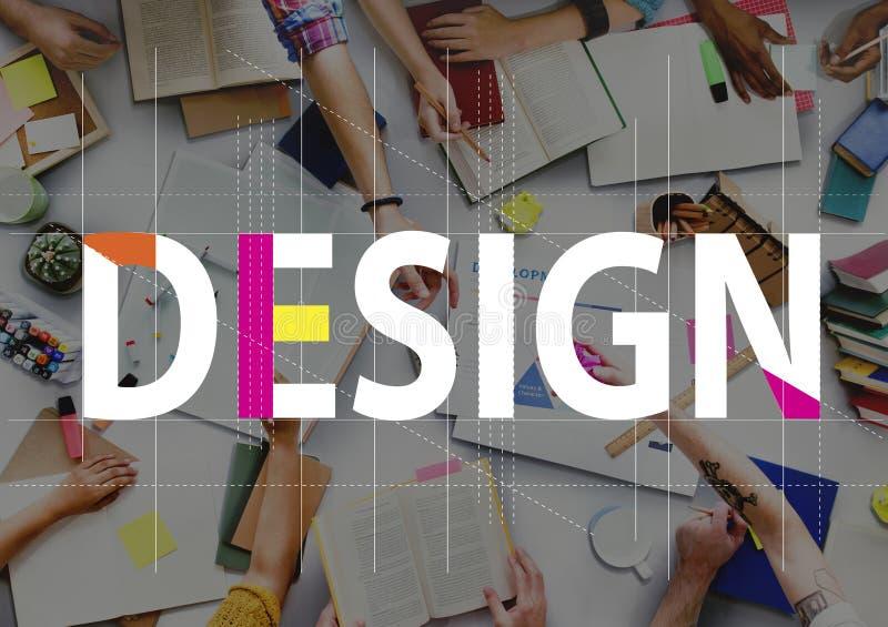 Concept créatif de graphique de personnes d'idées de conception photographie stock