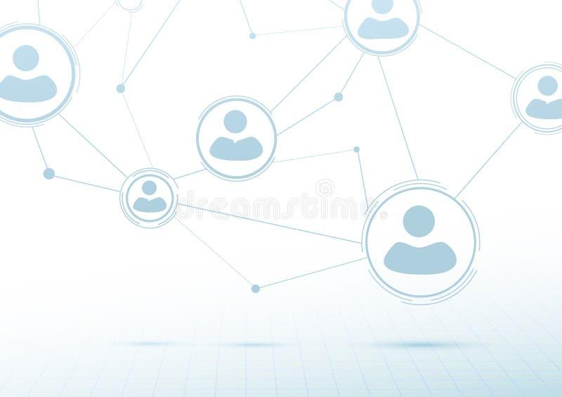 Concept créatif de mise en réseau - connexions sociales illustration de vecteur