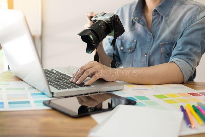 Concept créatif de studio de conception de profession d'idées de photographie, marché des changes photo stock