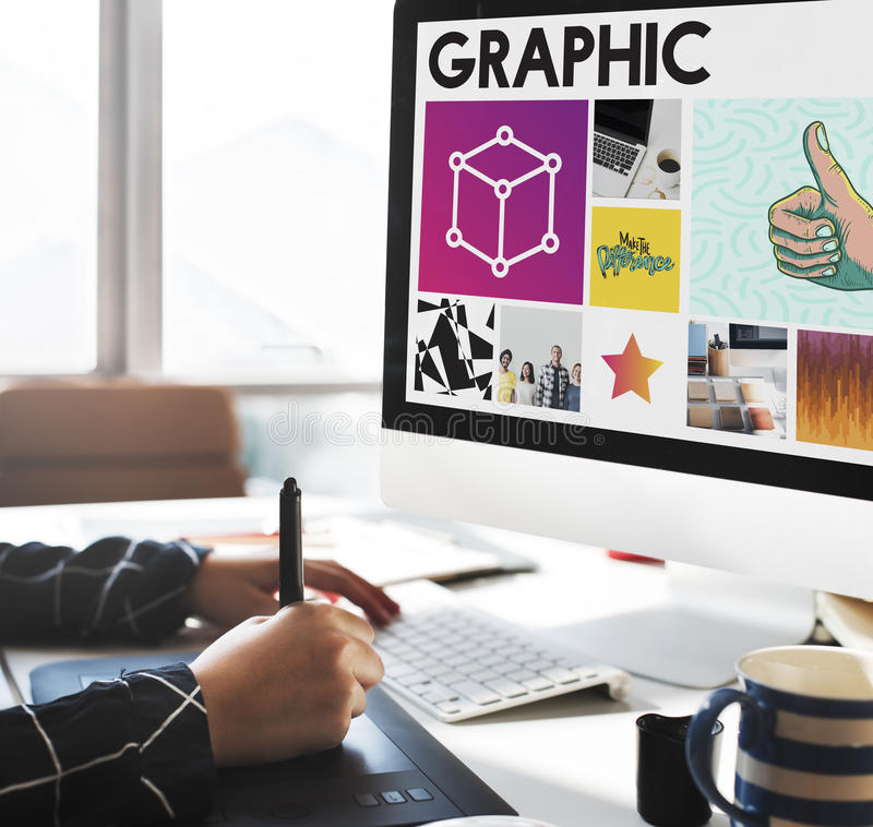Concept créatif de technologie de boîte de conception photographie stock