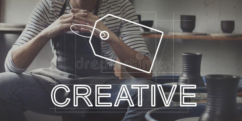 Concept créatif de vente d'identité de marque de conception images stock
