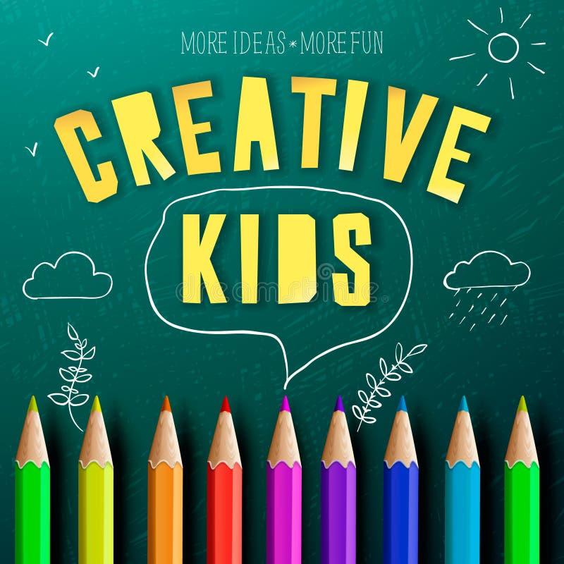 Concept creatief onderwijs voor jonge geitjes stock illustratie