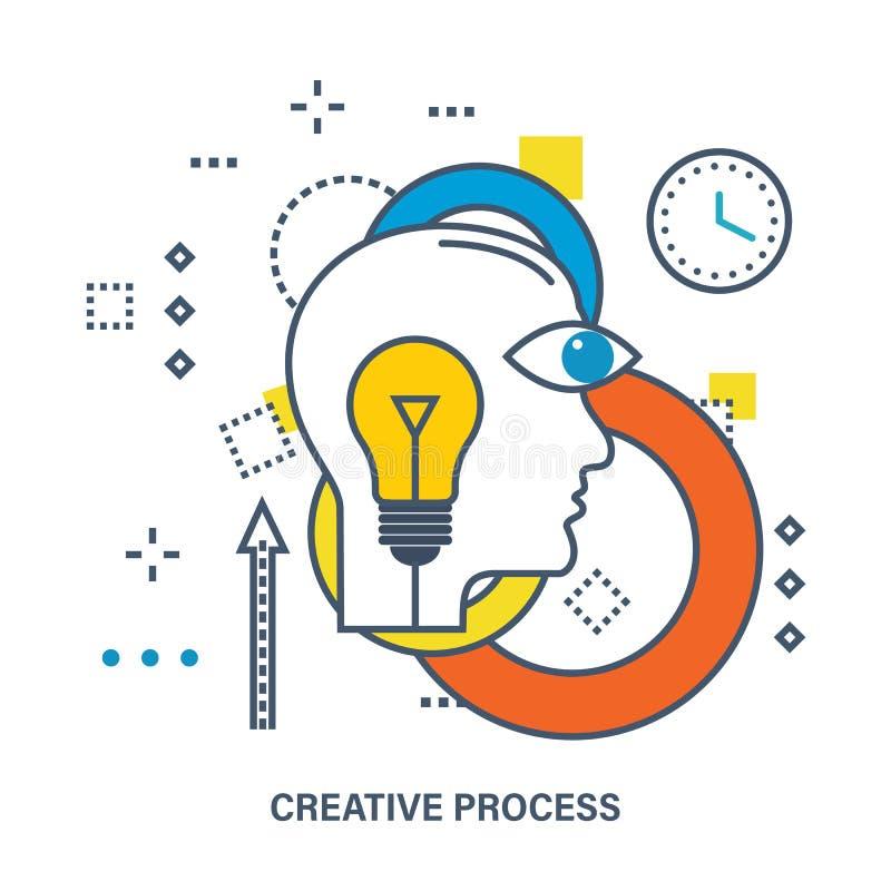 Concept creatief proces stock illustratie