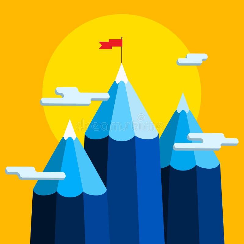Concept creatief succes Doelvoltooiing vector illustratie