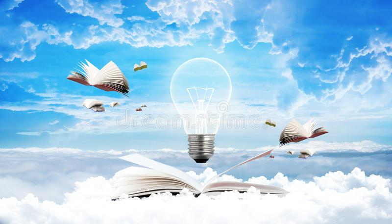 Concept of creative bulb business education royalty free stock image