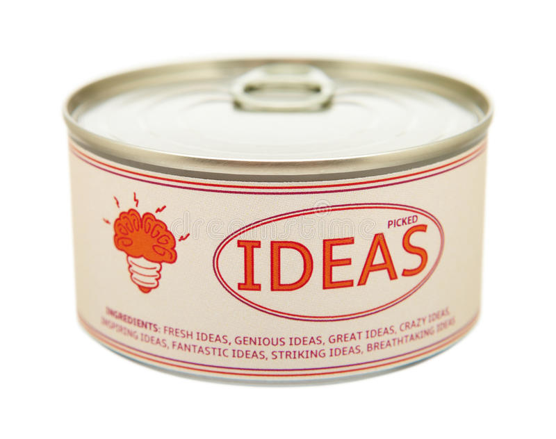 Download Concept Of Creativity. Tin Can. Stock Image - Image: 37032171