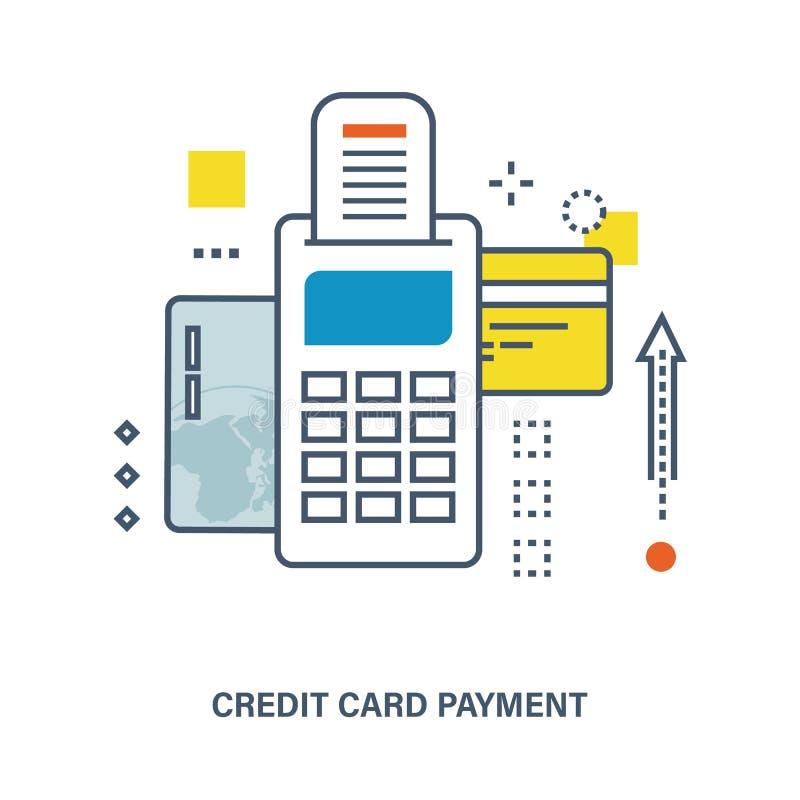 Concept creditcardbetaling royalty-vrije illustratie