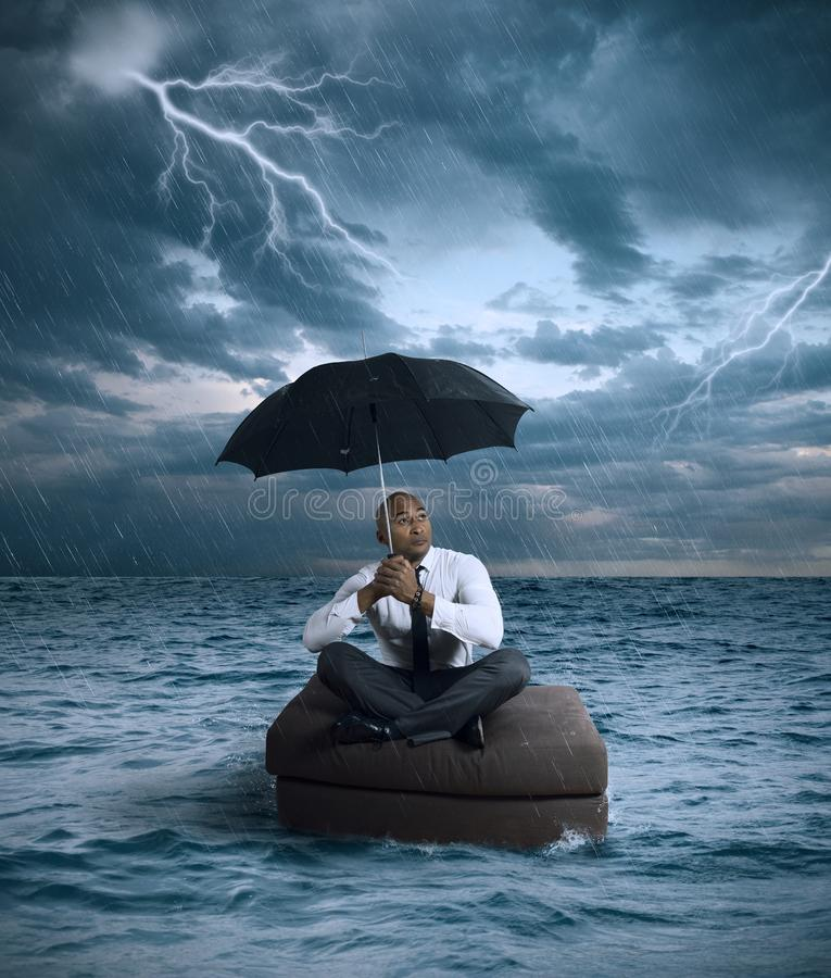 Business storm. Concept of crisis and difficulty in the business stock photos