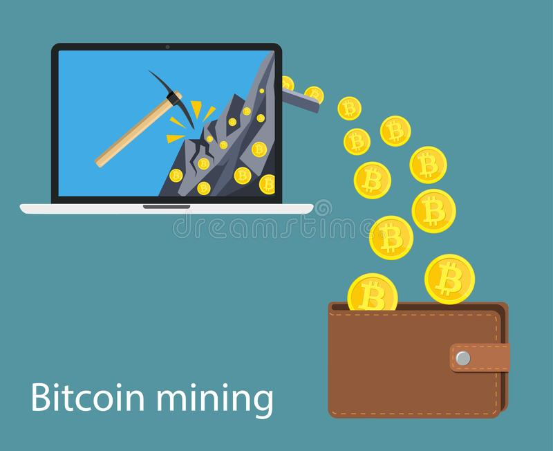 Concept of cryptocurrency technology, vector illustration