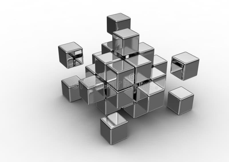 Concept cubique illustration de vecteur
