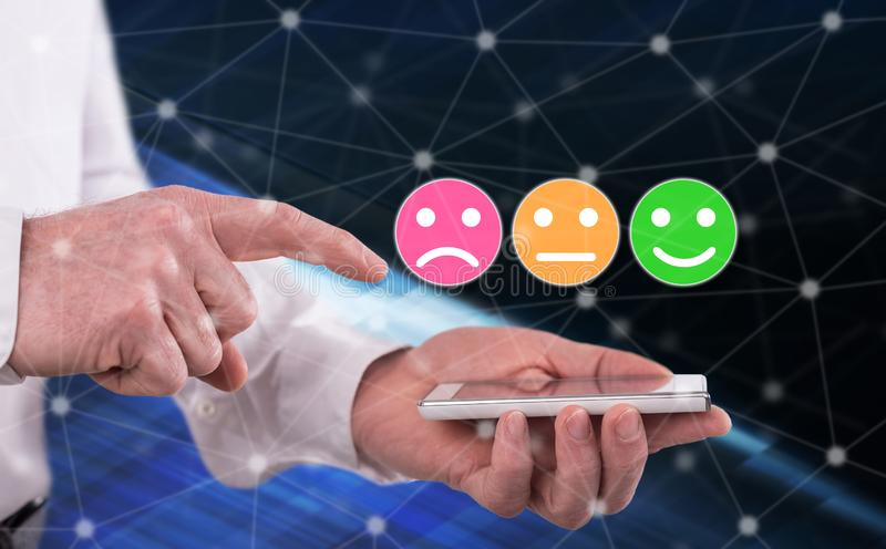 Concept of customer satisfaction royalty free stock photo