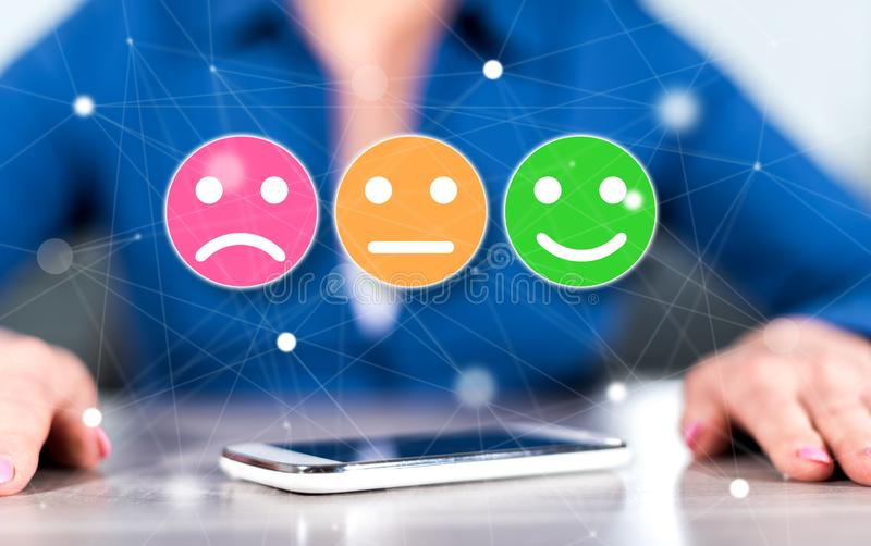 Concept of customer satisfaction stock photo