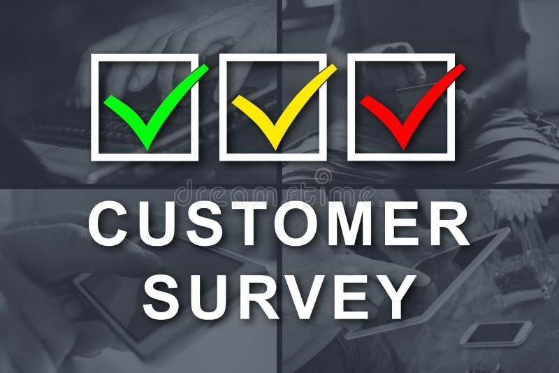 Concept of customer survey stock photos