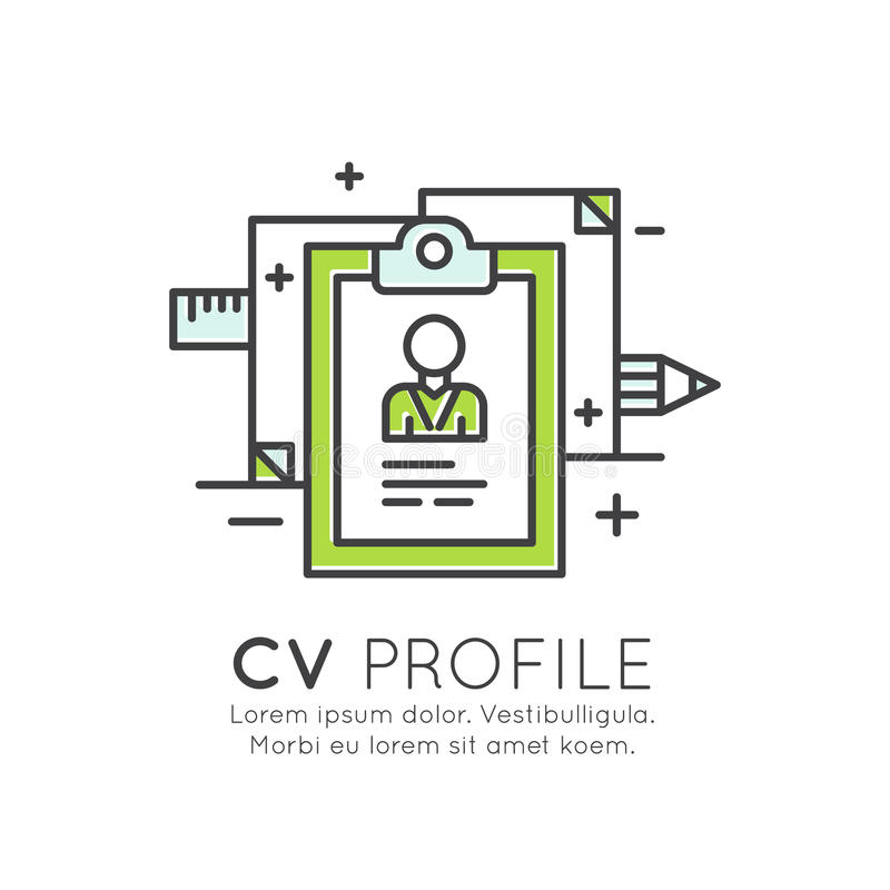 Concept Of Cv Employee Profile Stock Illustration  Illustration Of