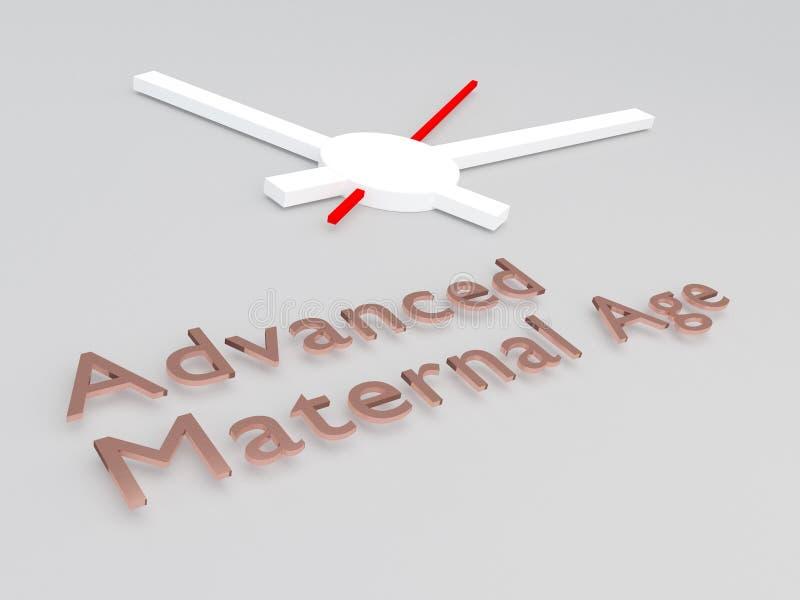 Concept d'âge maternel avancé illustration de vecteur