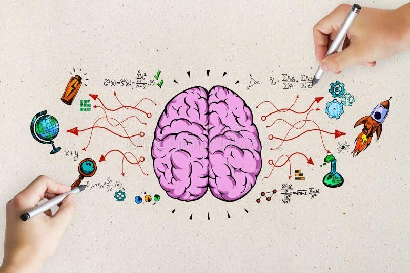 Concept d'échange d'idées et d'éducation image libre de droits