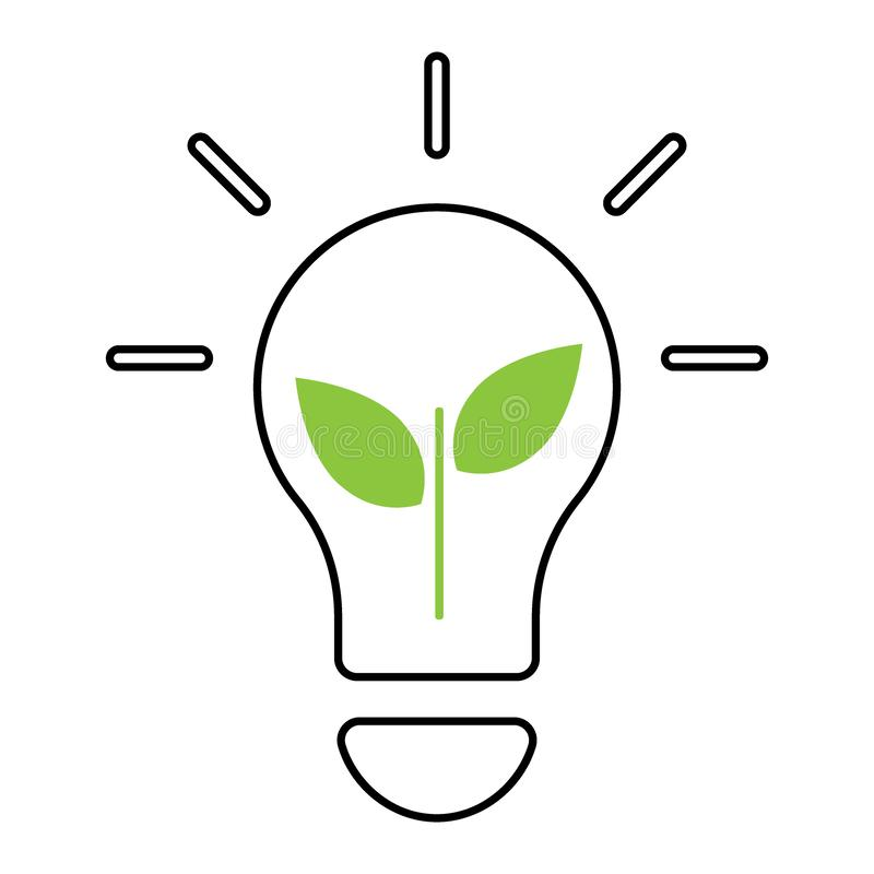 Concept d'écologie d'ampoule ic?ne d'illustration de vecteur illustration de vecteur