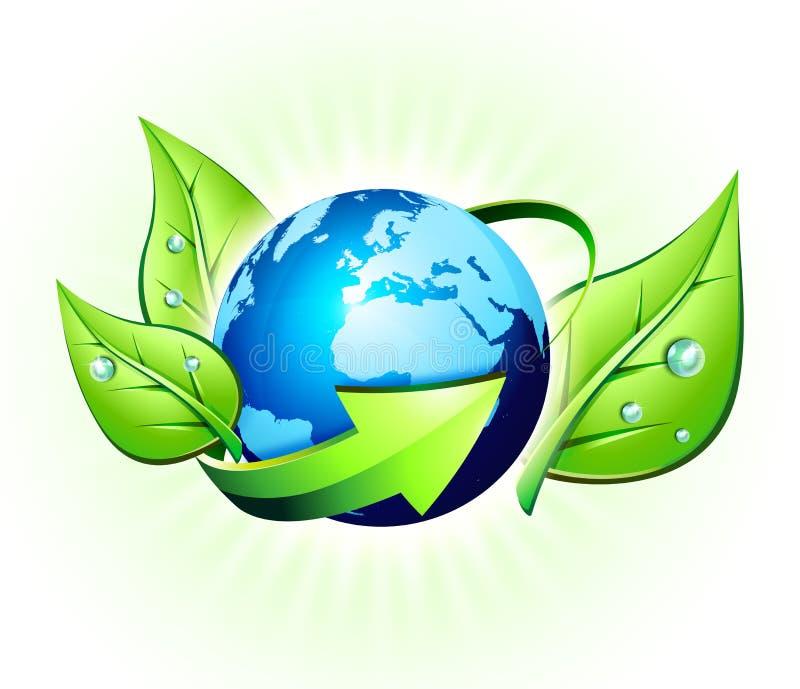 Concept d'écologie dans le monde illustration libre de droits