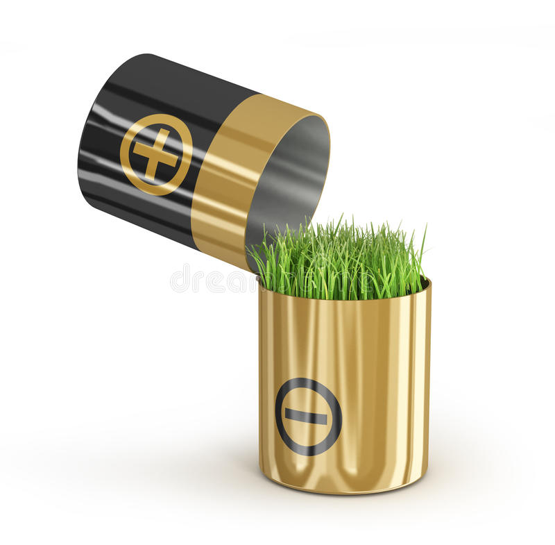 Concept d'écologie une énergie nette illustration stock