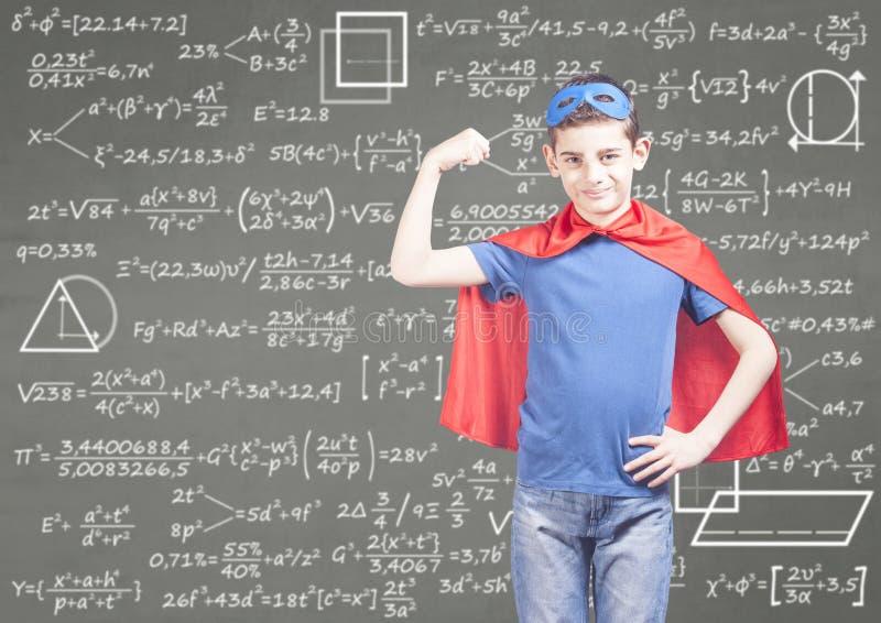 Concept d'éducation avec le superhéros photographie stock