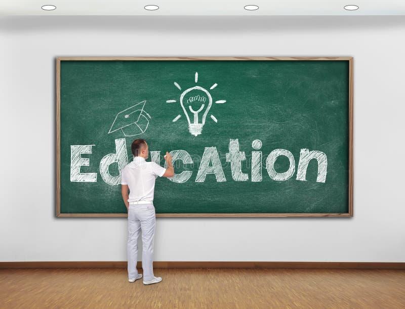 Concept d'éducation de dessin de professeur images libres de droits