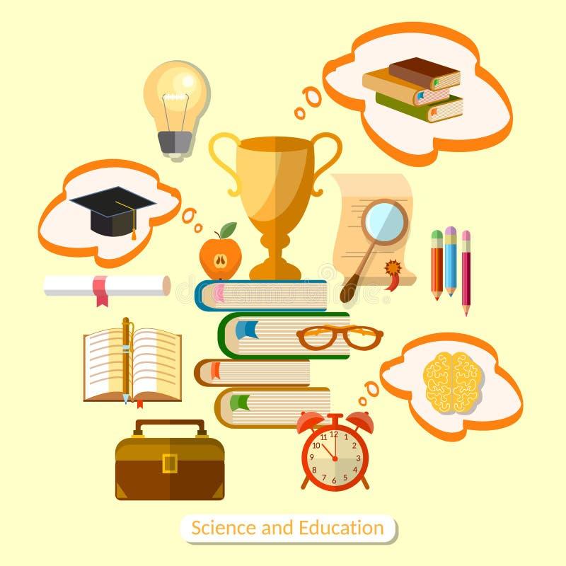 Concept d'éducation de l'enseignement efficace illustration stock