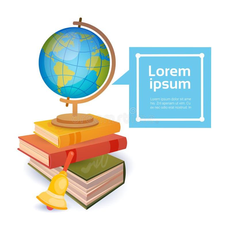 Concept d'éducation de substance d'école de pile de livres illustration de vecteur
