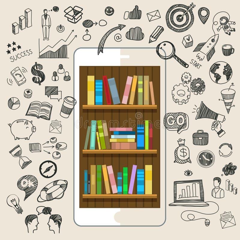 Concept d'éducation en ligne illustration libre de droits