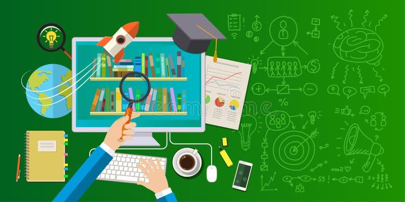 Concept d'éducation en ligne illustration de vecteur