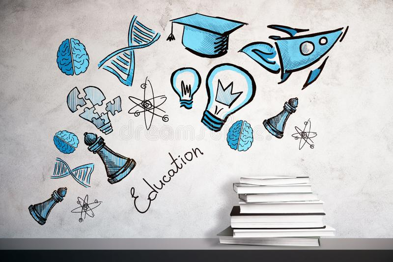 Concept d'éducation et de direction illustration de vecteur