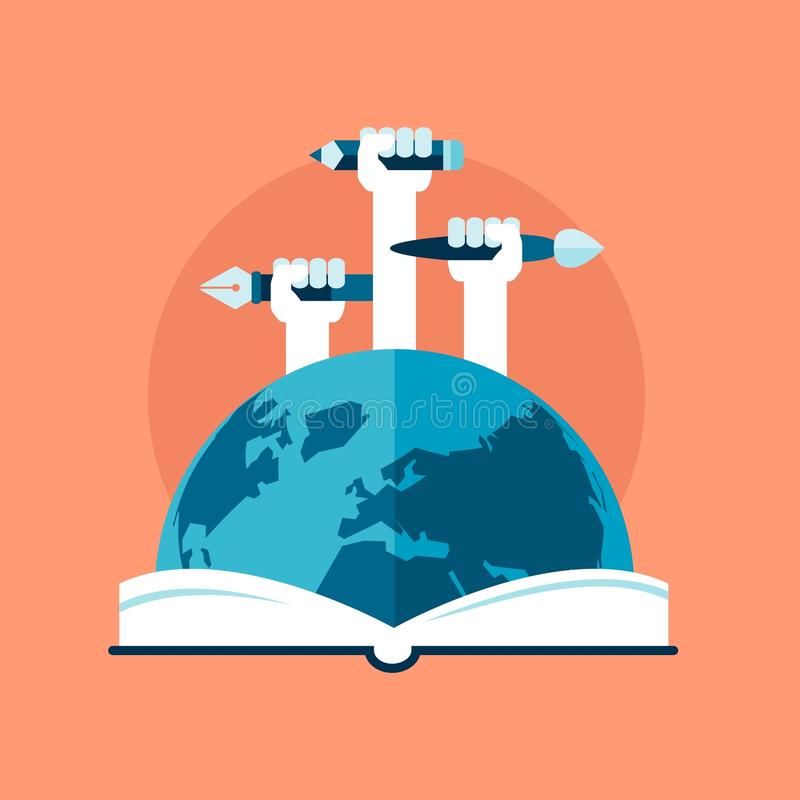 Concept d'éducation globale illustration libre de droits