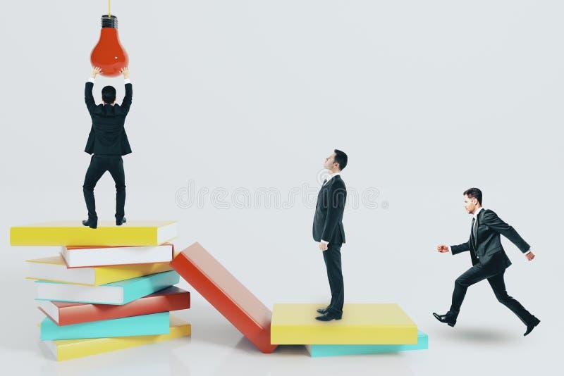 Concept d'éducation, d'idée et de connaissance illustration stock