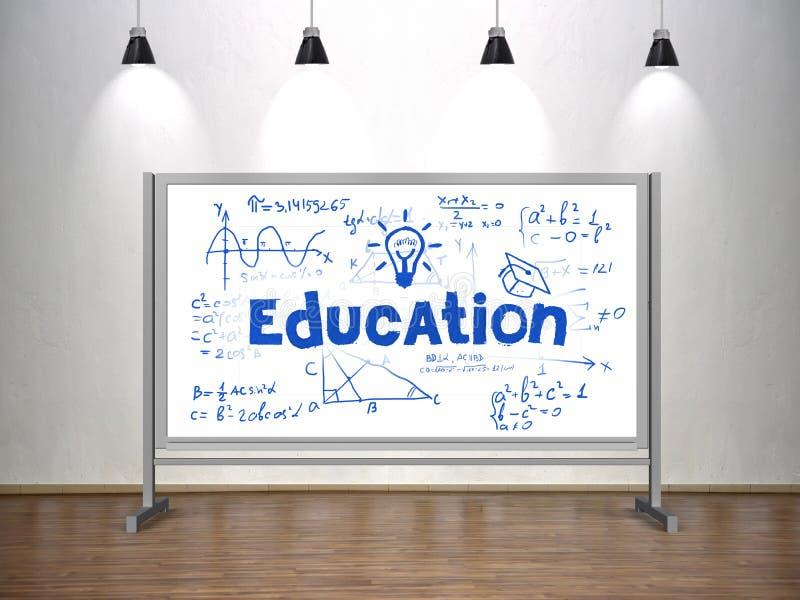 Concept d'éducation sur le tableau blanc illustration stock