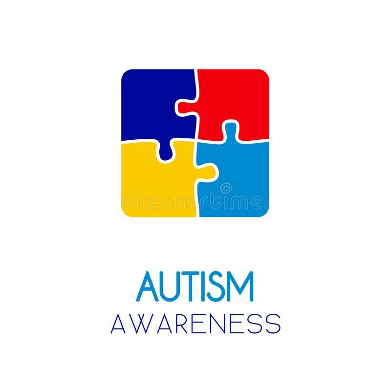 Concept d'éléments de puzzle de conscience d'autisme illustration libre de droits