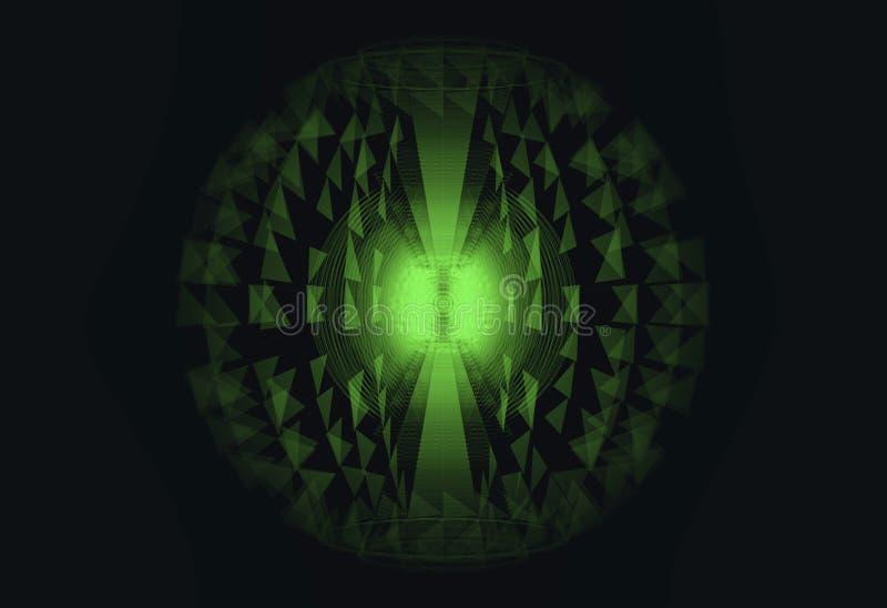 Concept d'énergie de fusion nucléaire et de puissance élevée illustration de vecteur