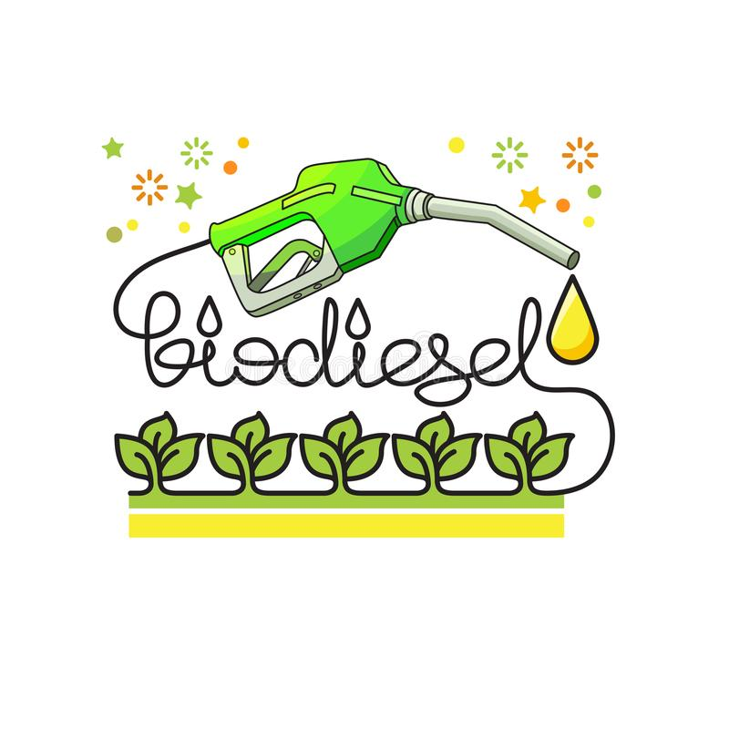 Concept d'énergie naturelle de biodiesel Vecteur illustration stock