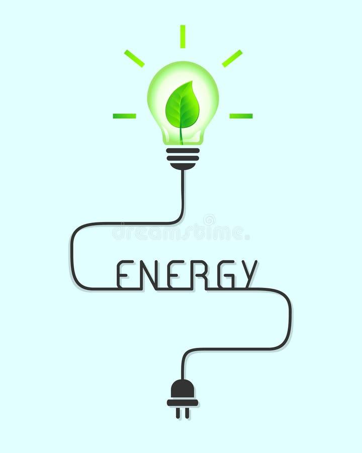 Concept d'énergie verte et renouvelable illustration de vecteur