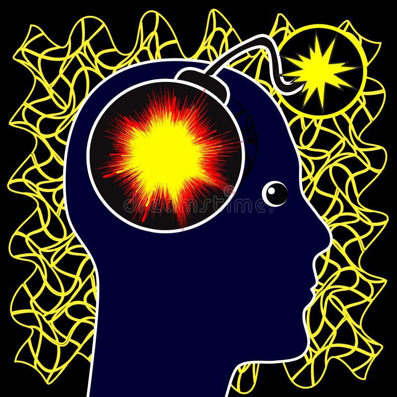 Concept d'épilepsie illustration libre de droits