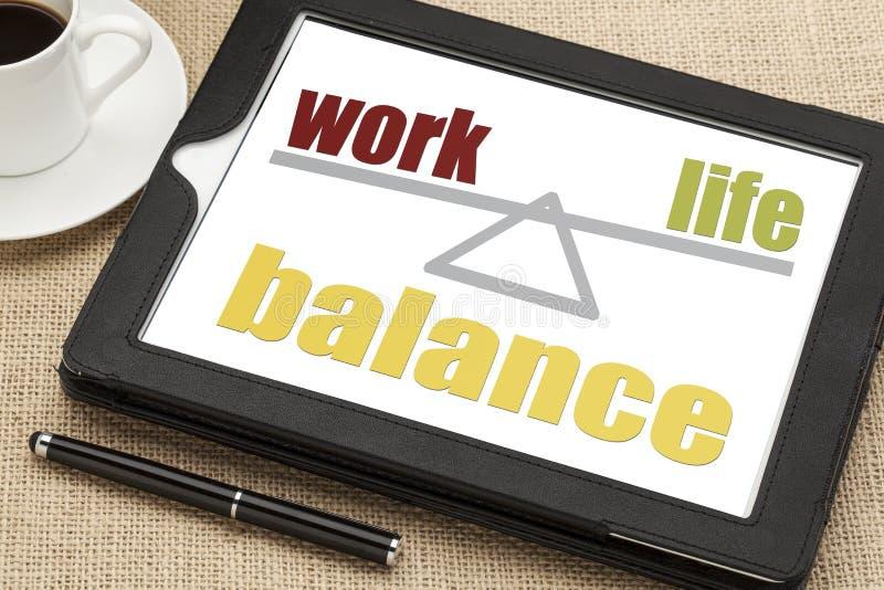 Concept d'équilibre de la vie de travail image libre de droits
