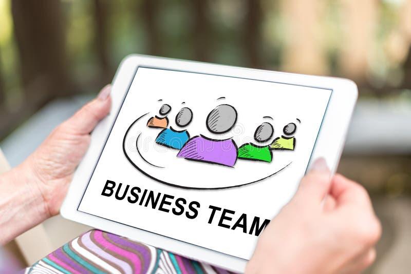Concept d'équipe d'affaires sur un comprimé photos stock