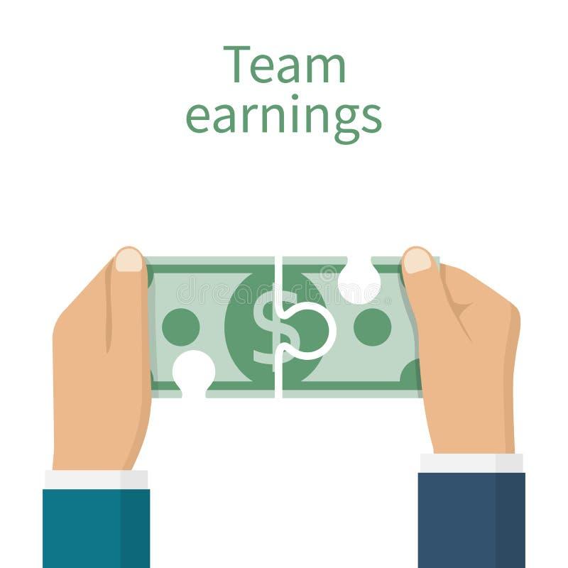 Concept d'équipe de revenus illustration stock
