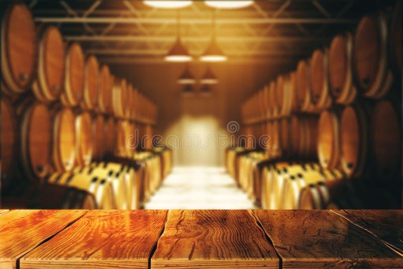 Concept d'établissement vinicole et d'alcool illustration stock