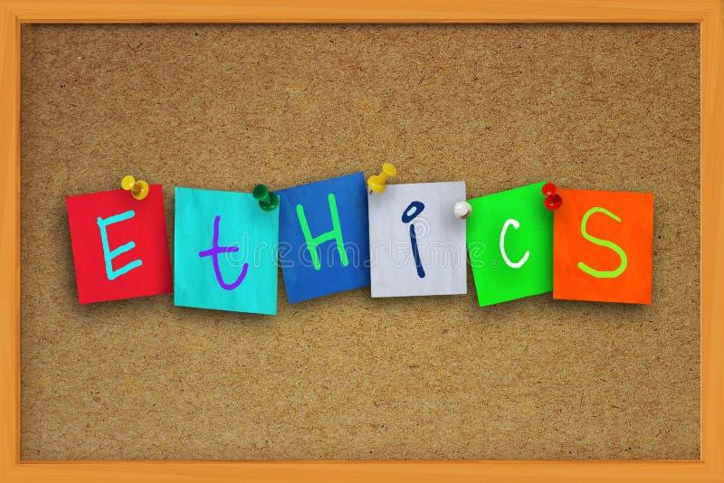 Concept d'éthique photographie stock libre de droits