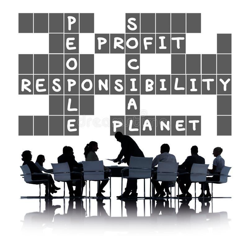 Concept d'éthique de fiabilité de fiabilité de responsabilité sociale photographie stock