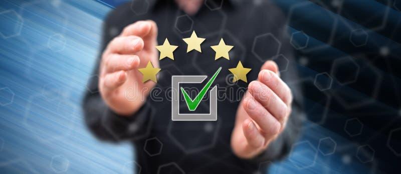 Concept d'évaluation image stock