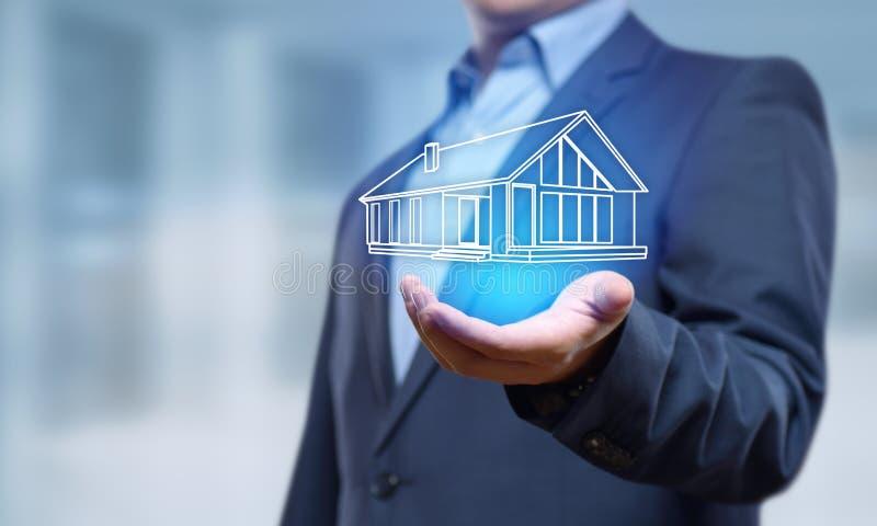 Concept d'achat de loyer d'hypothèque immobilière de gestion de propriété image libre de droits