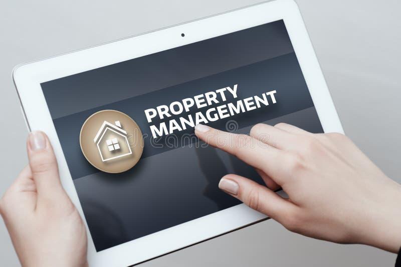 Concept d'achat de loyer d'hypothèque immobilière de gestion de propriété photographie stock libre de droits
