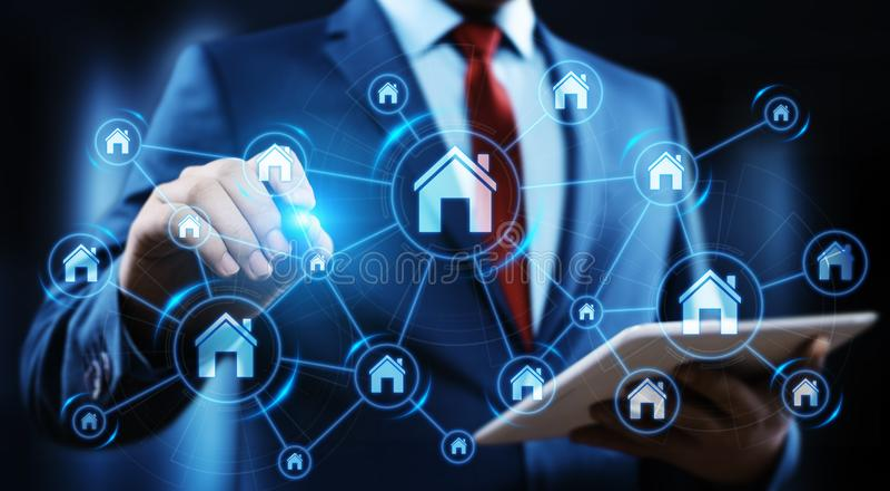 Concept d'achat de loyer d'hypothèque immobilière de gestion de propriété images stock