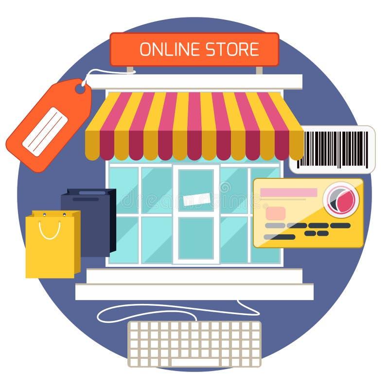 Concept d'achats d'Internet illustration libre de droits